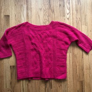Loft Red Chunky Knit Sweater